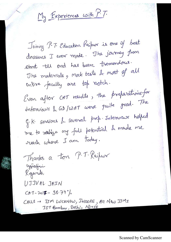 Testimonial of Ujjval Jain
